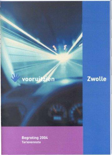 tarievennota 2004.pdf - BIS - Gemeente Zwolle