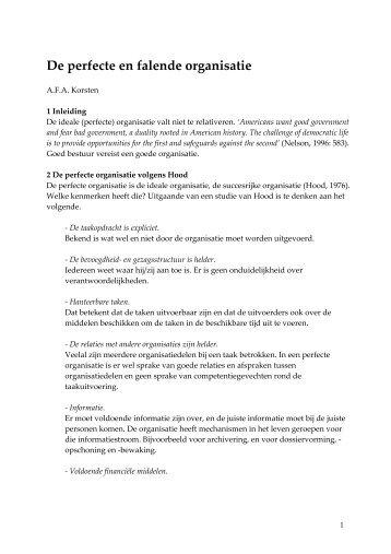 De perfecte organisatie.pdf - Prof. dr. AFA Korsten
