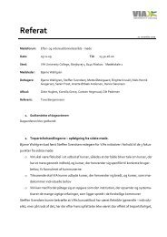 Referat 05.11.09 (pdf) - VIA University College