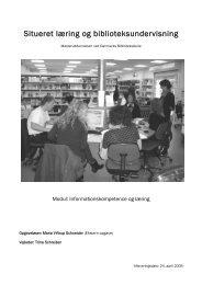Situeret læring og biblioteksundervisning - VIA University College