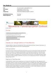 19.0 Prov. Fryslan - Nieuwsbrief ... - Provincie Fryslân