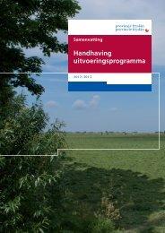 Samenvatting ... - Provincie Fryslân