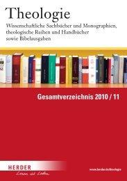 Gesamtverzeichnis 2010 / 11 - Verlag Herder