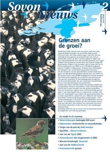 2 Sovon Nieuws - SOVON Vogelonderzoek Nederland
