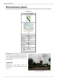 Retranchement (plaats) - Alle Vestingsteden van Nederland