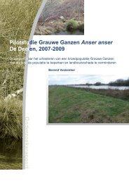 O n d e r z o e k s r a p p o r t - SOVON Vogelonderzoek Nederland
