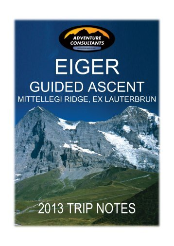GUIDED ASCENT 2013 TRIP NOTES - Adventure Consultants