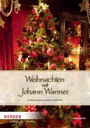 Verlag Herder GmbH, Freiburg: Vorschau 'Johann Wanner', Herbst ...