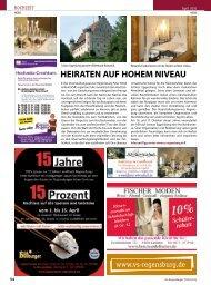 HEIRATEN AUF HOHEM NIVEAU - Regensburger Stadtzeitung