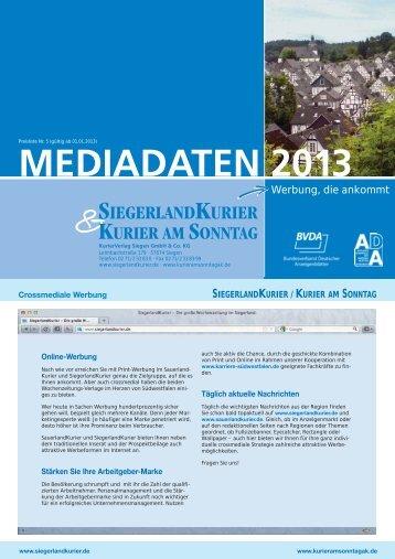 SIEGERLANDKURIER / KURIER AM SONNTAG - SauerlandKurier