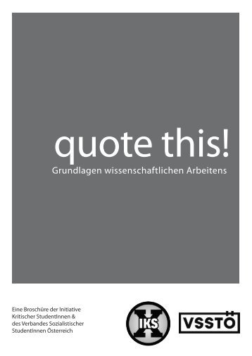 "DOWNLOAD ""Quote this!"" - Initiative Kritischer Studierender"