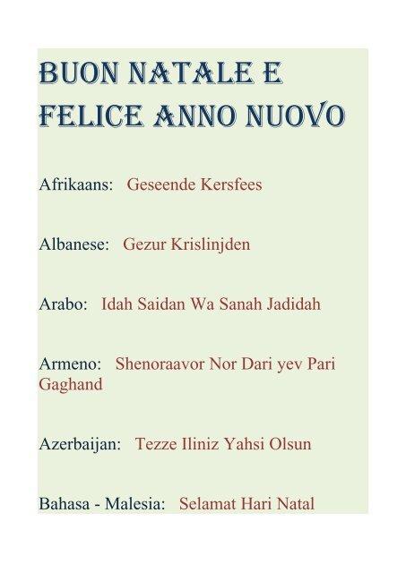 Auguri Di Natale In Albanese.Buon Natale E Felice Anno Nuovo