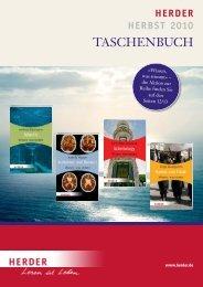Verlag Herder GmbH · Vorschau Taschenbuch, Herbst 2010