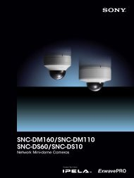 Sony SNC-DM110/160 Product Information - Use-IP