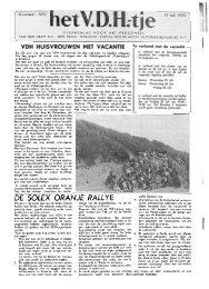 DE SOLEX ORANJE RALLYE - Van der Heem