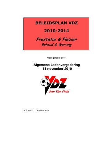 VDZ Beleidsplan 2010-2014
