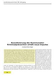 Koordinierung der Kommunalen Kriminalprävention erhält neue ...