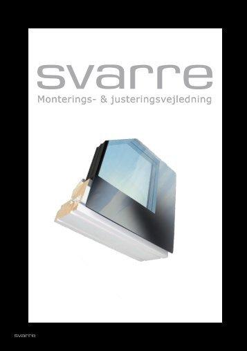 Montage og justeringsvejledning - Vrøgum - Svarre A/S
