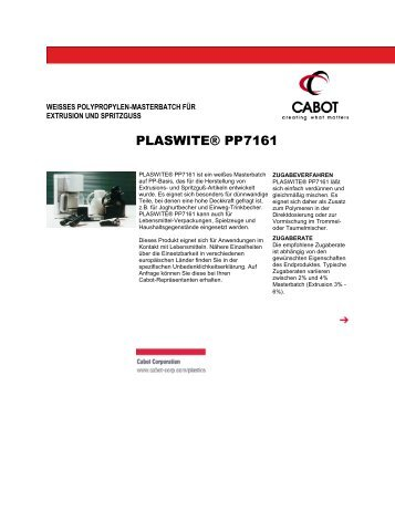 PLASWITE® PP7161 - Cabot Corporation