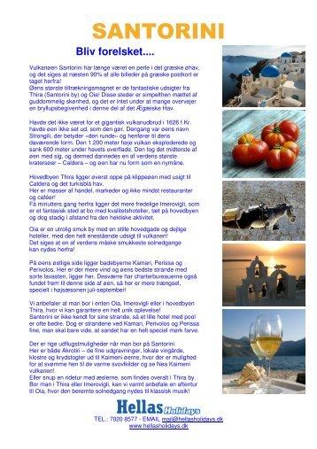 SANTORINI - Hellas Holidays