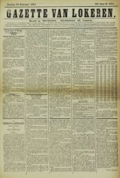 Zondag 10 Februari 1901. 58» Jaar N° 2951. Bureel en Werkhuizen ...