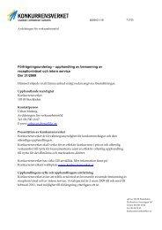 Förfrågningsunderlag – upphandling av ... - Konkurrensverket