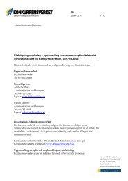 Förfrågningsunderlag – upphandling avseende ... - Konkurrensverket