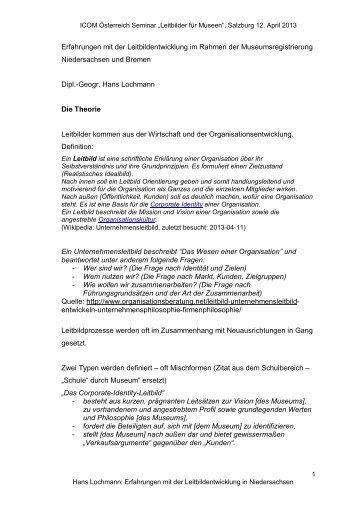 Präsentation Hans Lochmann - ICOM Österreich