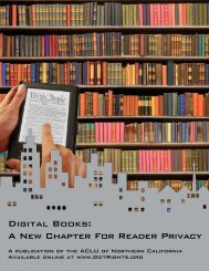 Digital Books: A New Chapter For Reader Privacy - ACLU of ...