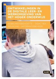 Ontwikkelingen in de digitale leer- en werkOmgeving van het ... - Surf