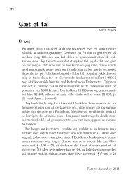 Gæt et tal - Institut for Matematiske Fag - Københavns Universitet