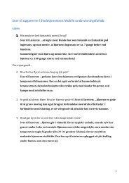 Svar til opgaverne i Skoletjenestens Mobile ... - Aalborg Zoo