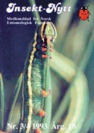 Medlemsblad ti Entomologisk - Norsk entomologisk forening