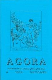 I begyndelsen var handlingen. Græsk religion i oldtiden - agora