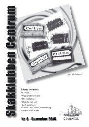 Klubblad nr. 6/2005 - Skakklubben Centrum
