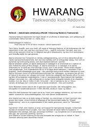 Bestyrelsens adresseliste - Dansk Taekwondo Forbund