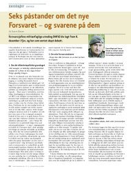 Seks påstander om det nye Forsvaret – og svarene ... - Forsvarsforum