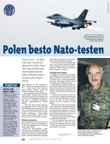 22 POZNAN,POLEN: – Ja, Nato ville vært i stand til å operere fra ...