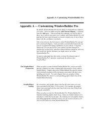 Appendix A — Customizing WindowBuilder Pro