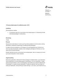 Kommunikationsplan for trafikinformation i 2013 - Movia