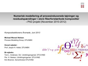 Numerisk modellering af procesinducerede tøjninger og ...