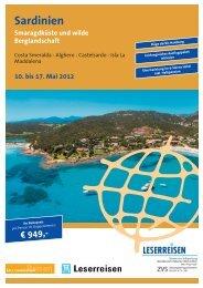 Sardinien Smaragdküste und wilde Berglandschaft 10. bis 17. Mai ...