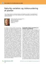 Naturlig variation og risikovurdering af planter - LandbrugsInfo