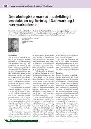 Det økologiske marked - udvikling i produktion og ... - LandbrugsInfo