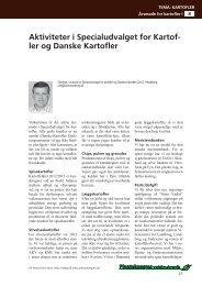 Aktiviteter i Specialudvalget for Kartofler og Danske ... - LandbrugsInfo