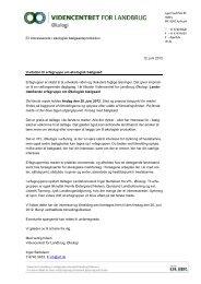 12. juni 2012 Invitation til erfagruppe om økologisk ... - LandbrugsInfo