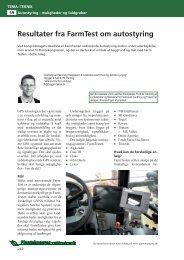 Resultater fra FarmTest om autostyring (Resumé fra ... - LandbrugsInfo