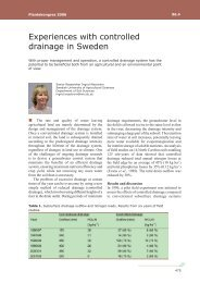 Experiences with controlled drainage in Sweden - LandbrugsInfo