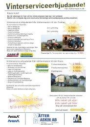 Serviceerbjudande slåtter,press,traktor vättermaskin. - Smelink