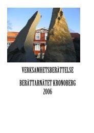 verksamhetsberättelse berättarnätet kronoberg 2006 - Smelink